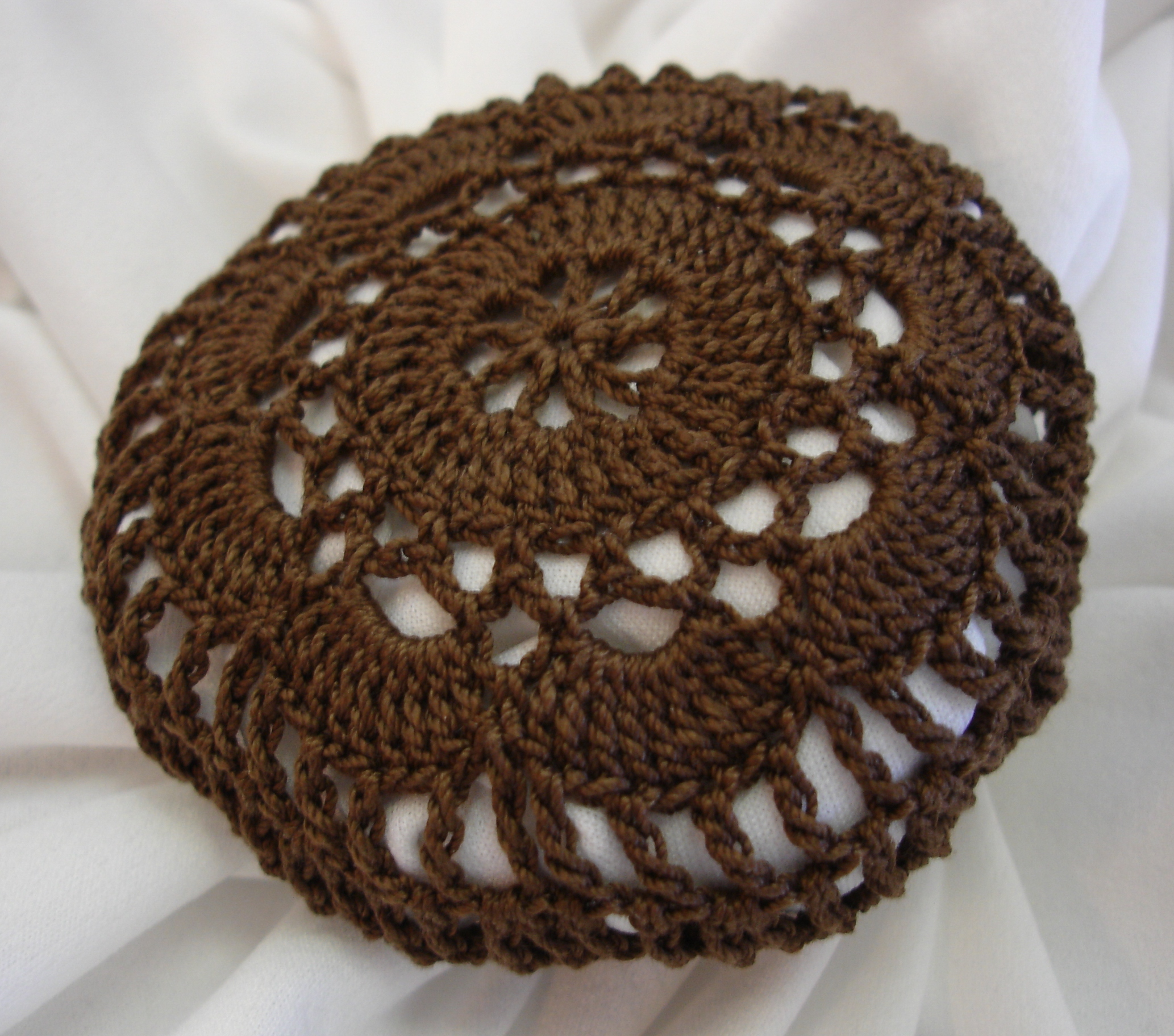 Crochet Hair Net : Set of 3 Crocheted Hair Net / Bun Covers Flower Style merrydeals4u