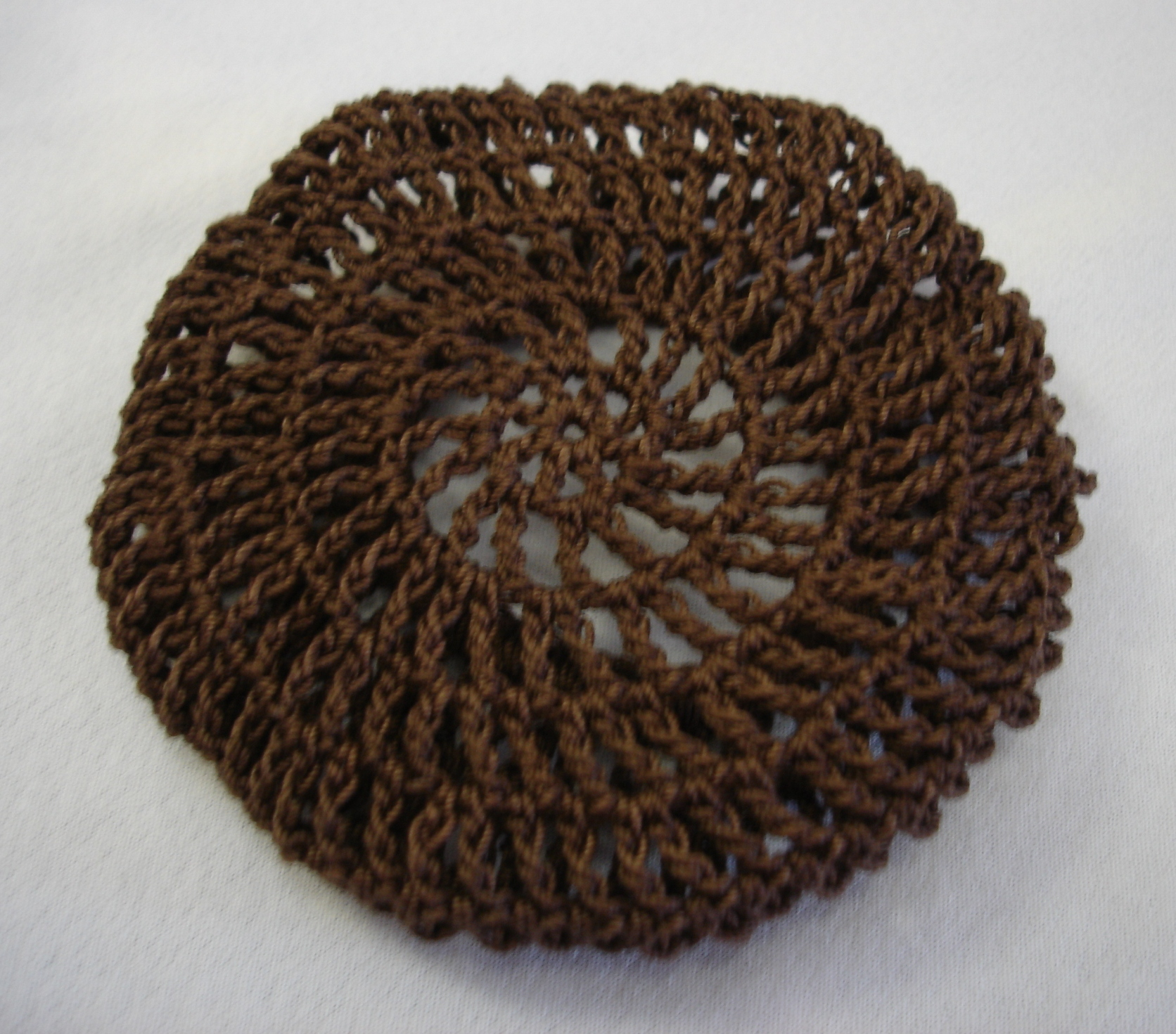 Crochet Hair Net : hair net bun cover amish mennonite or here crocheted black hair net ...