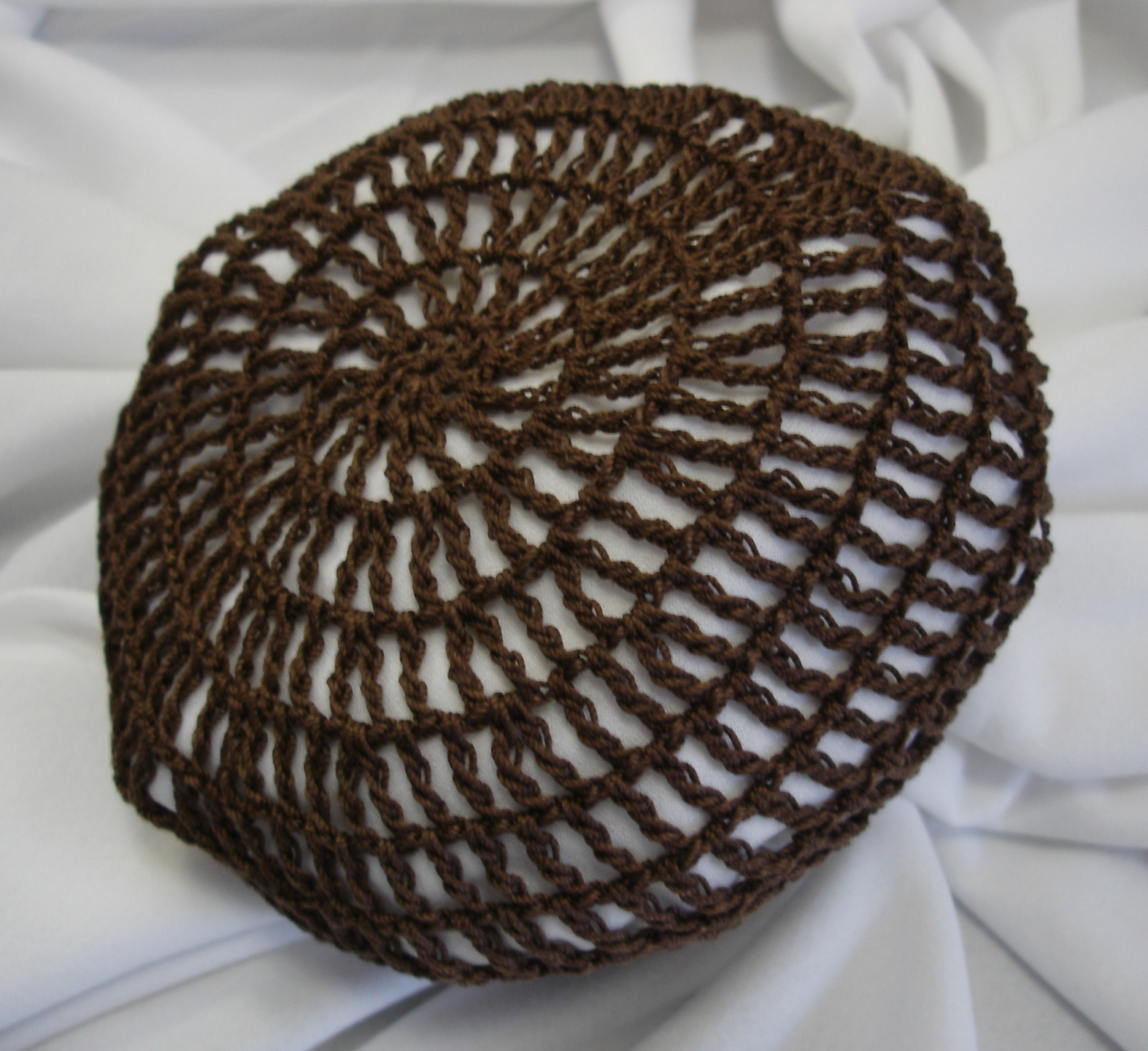 Crochet Hair Net Bun Cover Pattern : Crocheted Traditional Hair Nets / Bun Covers Amish Mennonite ...