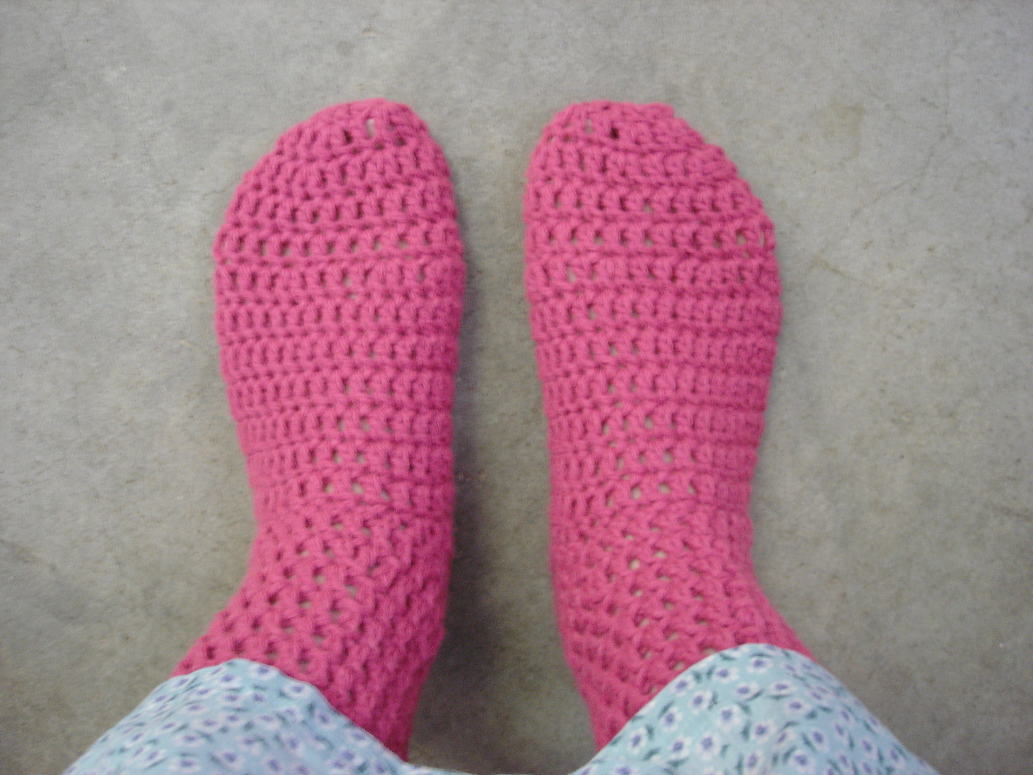 Easy Sock Knitting Pattern : Crochet Sock Pattern merrydeals4u